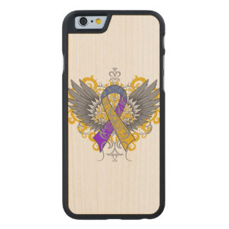 Bladder Cancer Cool Awareness Wings Carved® Maple iPhone 6 Slim Case