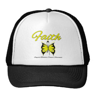 Bladder Cancer Faith Butterfly Ribbon Mesh Hat
