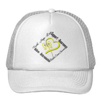 Bladder Cancer Faith Hope Love Butterfly Trucker Hat