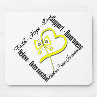 Bladder Cancer Faith Hope Love Butterfly Mouse Pad