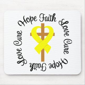 Bladder Cancer Faith Hope Love Cross Mouse Pad