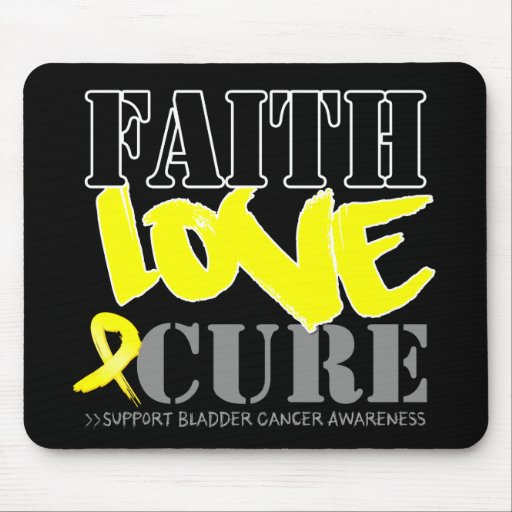 Bladder Cancer Faith Love Cure Mouse Pads