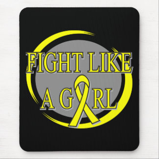 Bladder Cancer Fight Like A Girl Circular Mouse Pad