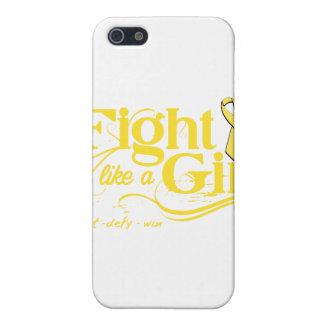 Bladder Cancer Fight Like A Girl Elegant Cover For iPhone 5