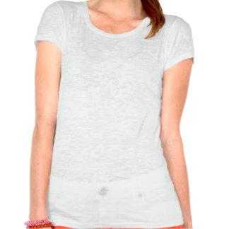 Bladder Cancer Fight Like A Girl Silhouette T-shirt