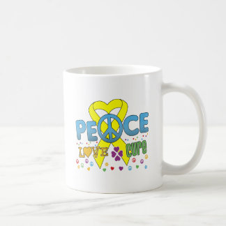 Bladder Cancer Groovy Peace Love Cure Basic White Mug