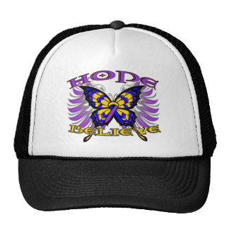 Bladder Cancer Hope Believe Butterfly Trucker Hat