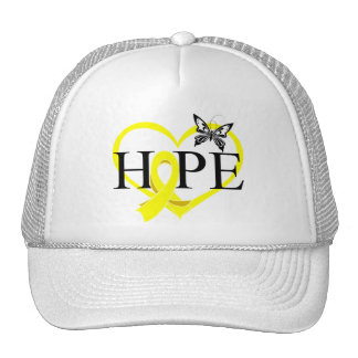 Bladder Cancer Hope Butterfly Heart Décor Trucker Hat