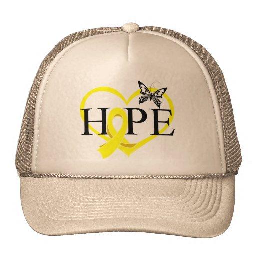 Bladder Cancer Hope Butterfly Heart Décor Hats