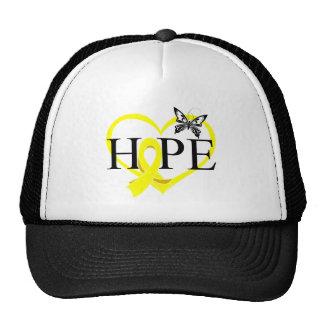 Bladder Cancer Hope Butterfly Heart Décor Mesh Hats
