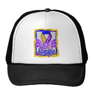 Bladder Cancer Hope Butterfly Portrait Trucker Hats