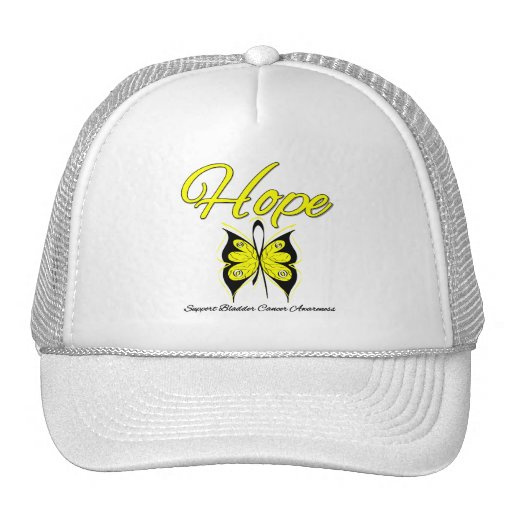 Bladder Cancer Hope Butterfly Ribbon Hats