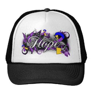 Bladder Cancer Hope Garden Ribbon Trucker Hats