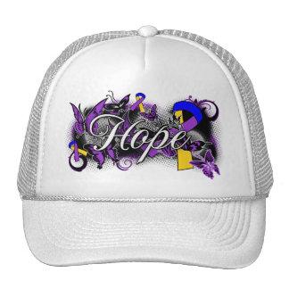 Bladder Cancer Hope Garden Ribbon Trucker Hat