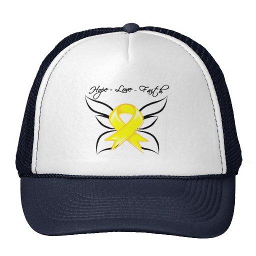 Bladder Cancer Hope Love Faith Mesh Hats