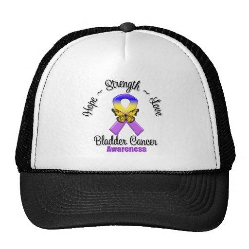 Bladder Cancer Hope Strength Love Trucker Hat