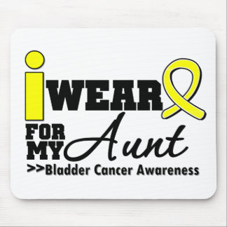 Bladder Cancer I Wear Yellow Ribbon For My Aunt Mouse Pad