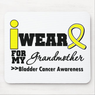 Bladder Cancer I Wear Yellow Ribbon For My Grandmo Mouse Pad