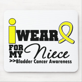 Bladder Cancer I Wear Yellow Ribbon For My Niece Mouse Pads