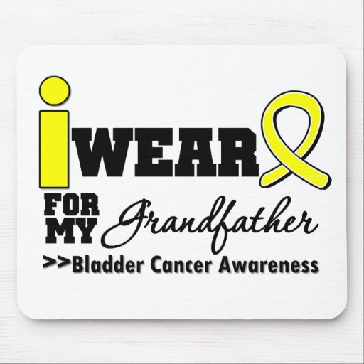 Bladder Cancer I Wear Yellow Ribbon Grandfather Mouse Pads