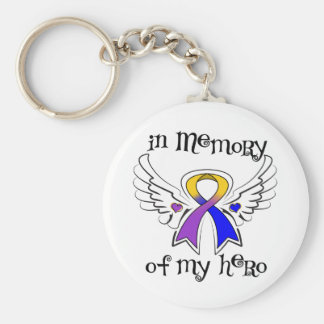 Bladder Cancer In Memory of My Hero Basic Round Button Key Ring