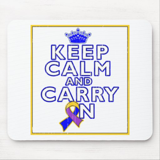 Bladder Cancer Keep Calm and Carry ON Mousepad