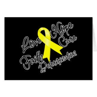 Bladder Cancer Love Hope Determination Greeting Card