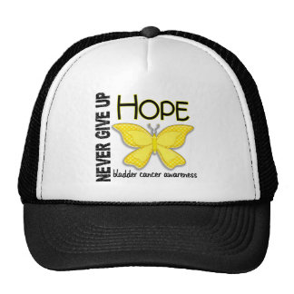 Bladder Cancer Never Give Up Hope Butterfly 4.1 Hats