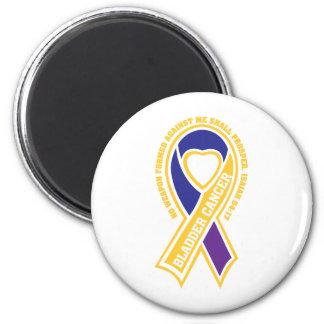 bladder cancer no weapon formed against me 6 cm round magnet