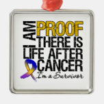 Bladder Cancer Proof There is Life After Cancer Silver-Colored Square Decoration