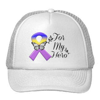 Bladder Cancer Ribbon For My Hero Cap