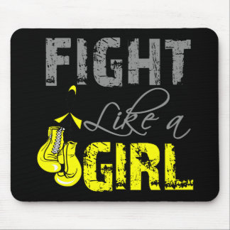 Bladder Cancer Ribbon Gloves Fight Like a Girl Mouse Pad
