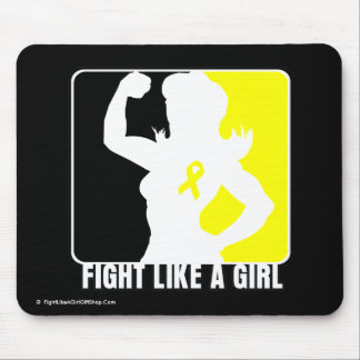 Bladder Cancer Strength Fight Like A Girl Mouse Pad