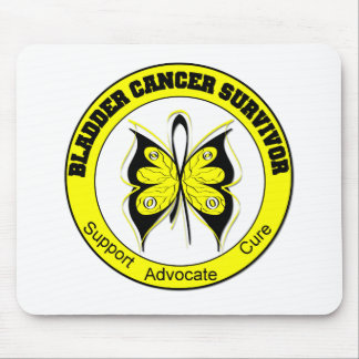 Bladder Cancer Survivor Butterfly Mouse Pad