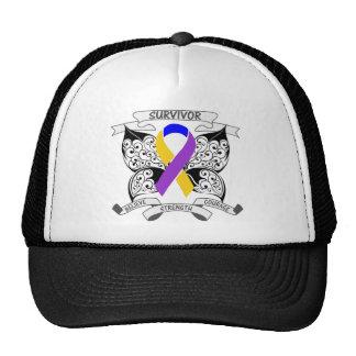 Bladder Cancer Survivor Butterfly Strength Hats