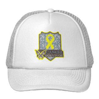 Bladder Cancer Survivor Vintage Butterfly Trucker Hat