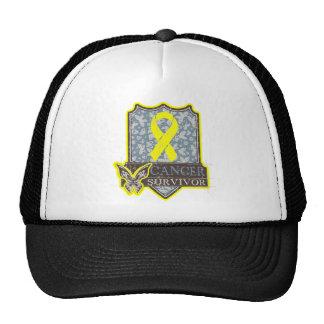Bladder Cancer Survivor Vintage Butterfly Trucker Hats