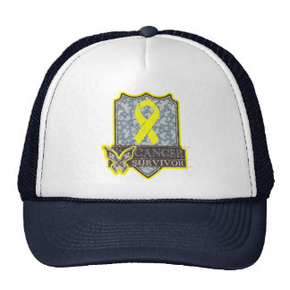 Bladder Cancer Survivor Vintage Butterfly Hats