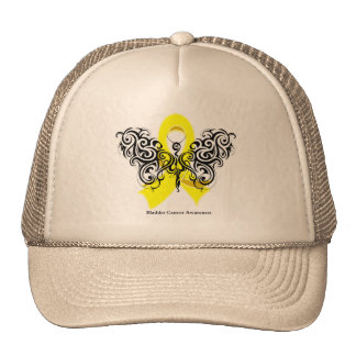 Bladder Cancer Tribal Butterfly Ribbon Cap