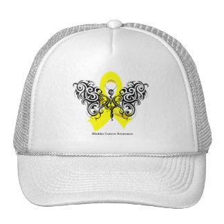 Bladder Cancer Tribal Butterfly Ribbon Mesh Hats