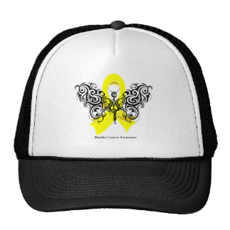 Bladder Cancer Tribal Butterfly Ribbon Hat