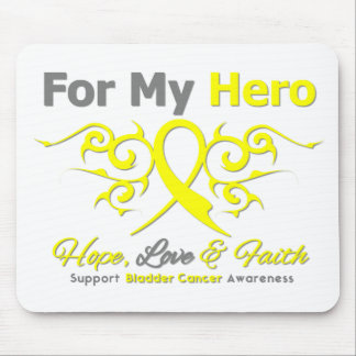 Bladder Cancer Tribal Ribbon Hero Mouse Pad