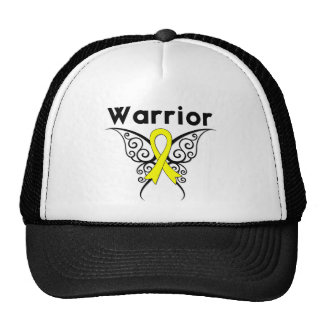 Bladder Cancer Warrior Tribal Butterfly Mesh Hats