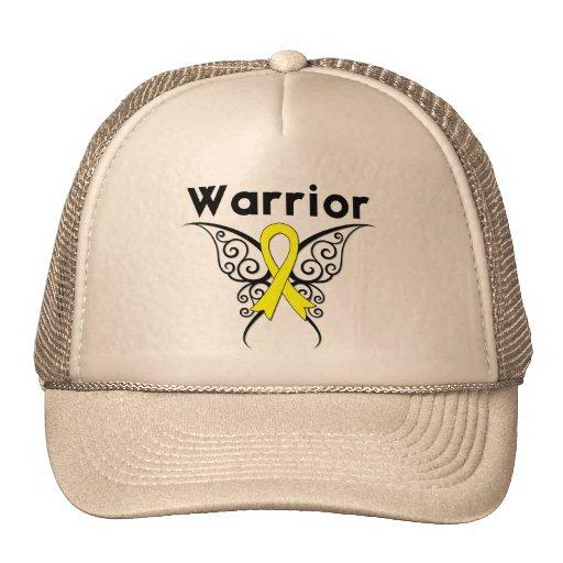 Bladder Cancer Warrior Tribal Butterfly Trucker Hat