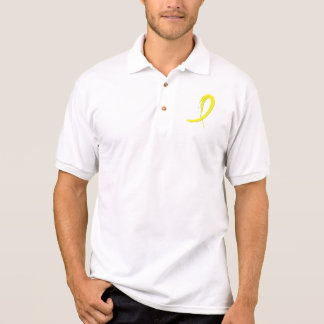 Bladder Cancer's Yellow Ribbon A4 Polo Shirt