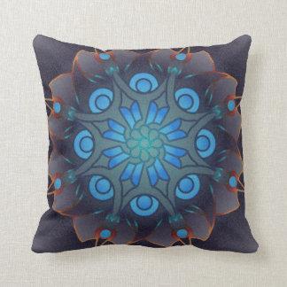 Blade Flower mandala throw pillow