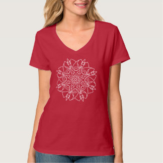 Blade Flower mandala women's v-neck T-Shirt