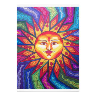 Bladed Sun Personalized Invite