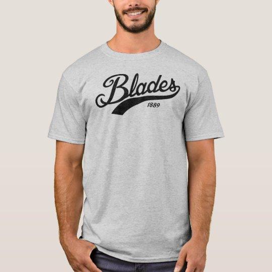 Blades Black Slightly Distressed Print T-Shirt