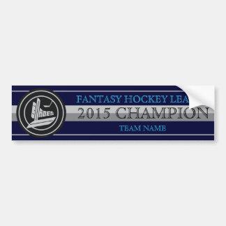 Blades Fantasy Hockey Champion Bumper Stickers